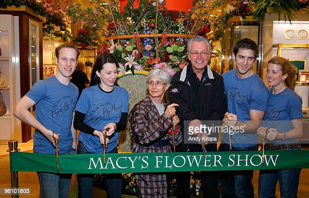Choreographer Twyla Tharp and Robin Hall, executive producer of the Macy's Thanksgiving Day Parade, cut the ribbon to open the 36th Annual Macy's...