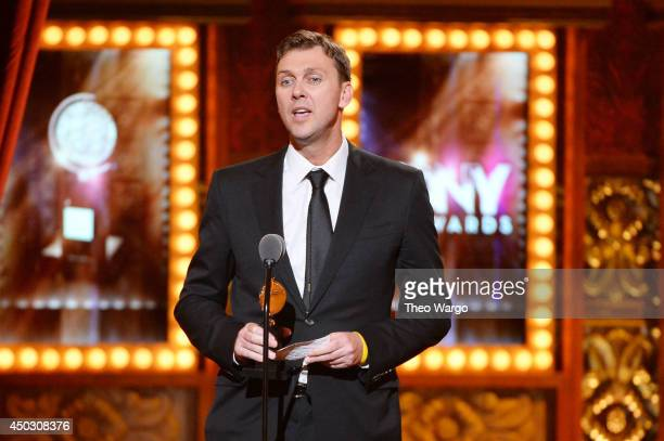 "Choreographer Warren Carlyle accepts the award for Best Choreography for ""After Midnight"" onstage during the 68th Annual Tony Awards at Radio City..."