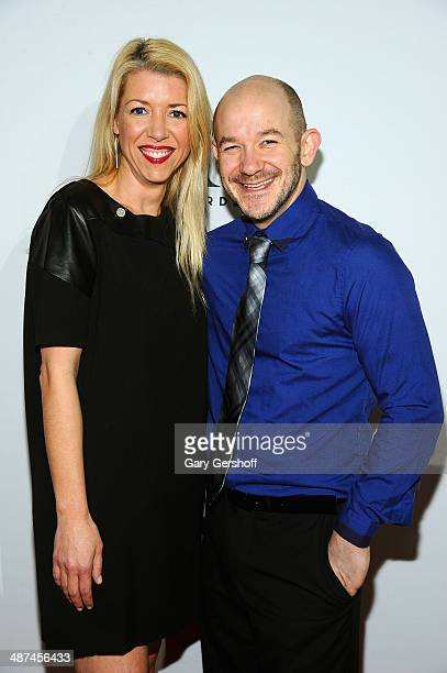 Choreographers Kelly Devine and Steven Hoggett attend the 2014 Tony Awards Meet The Nominees Press Reception at the Paramount Hotel on April 30 2014...