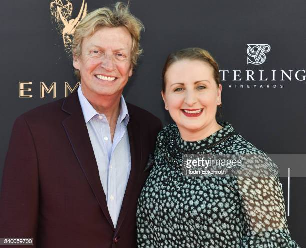Choreographers Nigel Lythgoe and Mandy Moore attend the Television Academy's Choreography Peer Group Celebration at Saban Media Center on August 27...