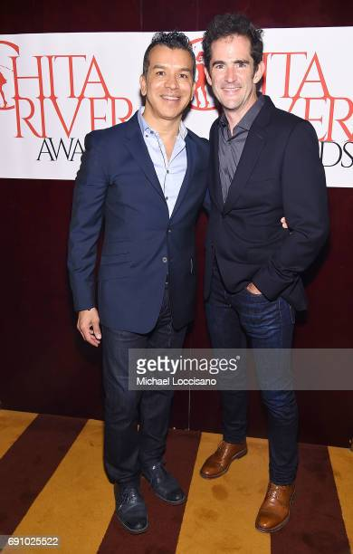 Choreographers Sergio Trujillo and Andy Blankenbuehler attend the 2017 Chita Rivera Awards Nominees' Reception at The Lambs Club on May 30 2017 in...