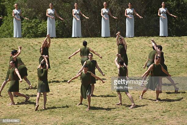 Choreography in Ancient Olympia during the lighting Ceremony for the Olympic flame