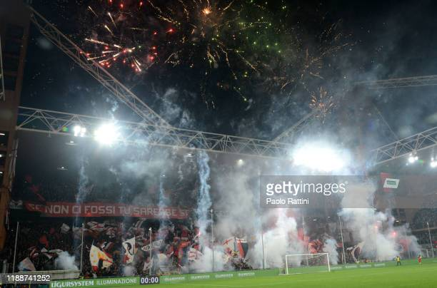 Choreography North Stand for Genoa CFC during the Serie A match between Genoa CFC and UC Sampdoria at Stadio Luigi Ferraris on December 15 2019 in...