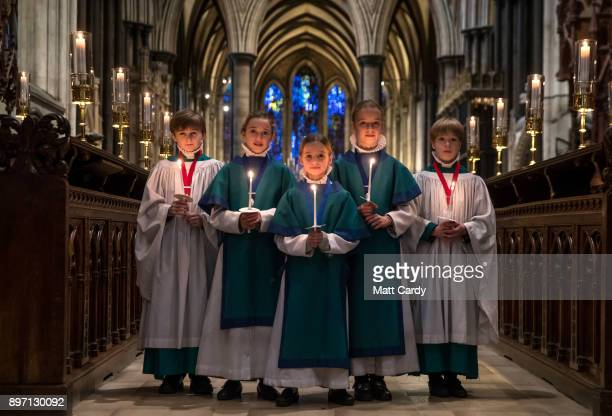 Choristers from the Salisbury Cathedral Choir have their final practice ahead of the services that will be held in the cathedral marking Christmas on...