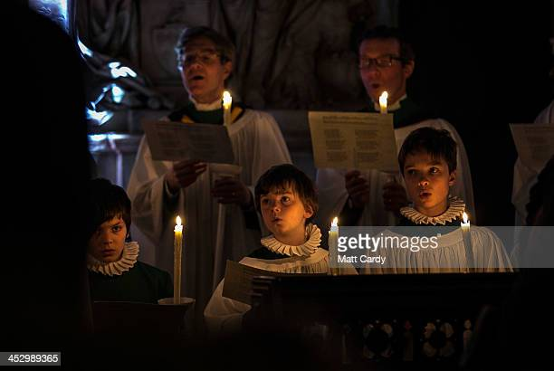 Choristers take part in Bath Abbey's candlelit Advent Procession on December 1 2013 in Bath England One of the most popular services of the historic...