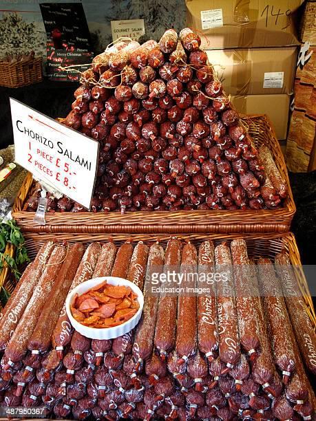 Chorizo Salami on market stall