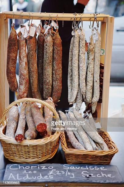 chorizo sausages for sale - helena price stock-fotos und bilder