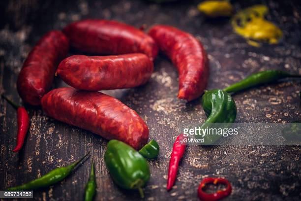 Chorizo Sausages with Mustard