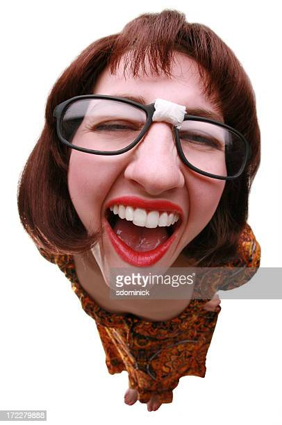 chorkle - ugly teeth stock photos and pictures