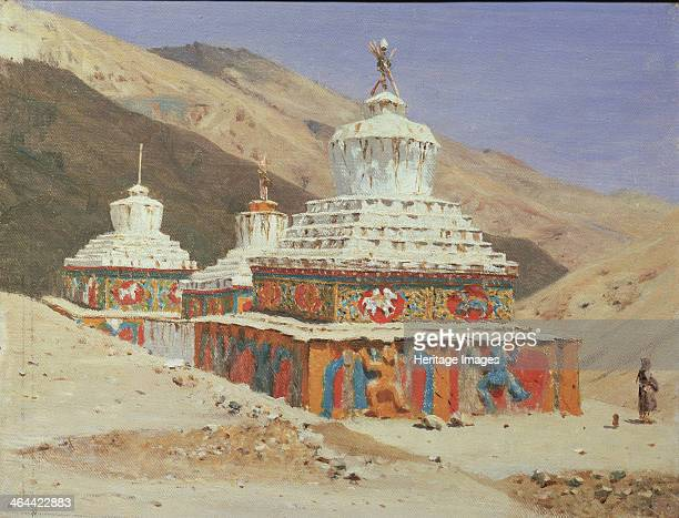 Chorten in Ladakh 1875 Found in the collection of the State Tretyakov Gallery Moscow