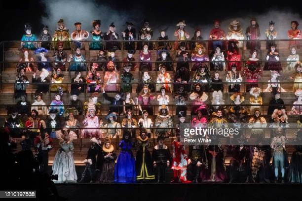 Chorus atmosphere during the Louis Vuitton as part of the Paris Fashion Week Womenswear Fall/Winter 2020/2021 on March 03, 2020 in Paris, France.