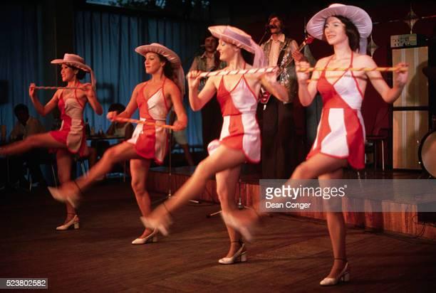 Chorus Dancers at Nitza Night Club, Yalta
