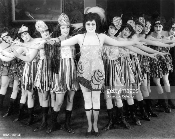 Chorus Girls pose for a portrait in 1913