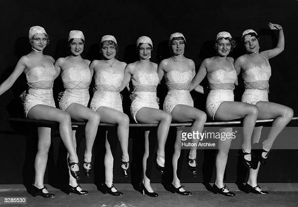 A chorus line from 'Hollywood Revue of 1929' directed by Charles F Reisner and starring amongst others Jack Benny Buster Keaton Joan Crawford and...