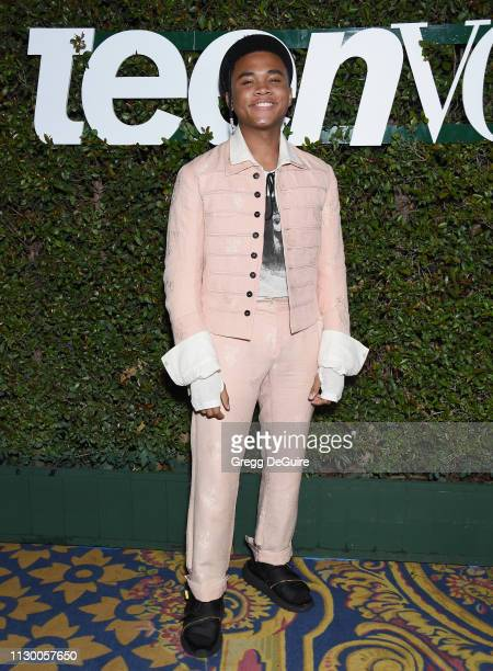 Chosen Jacobs attends Teen Vogue's Young Hollywood Party Presented By Snap at Los Angeles Theatre on February 15 2019 in Los Angeles California
