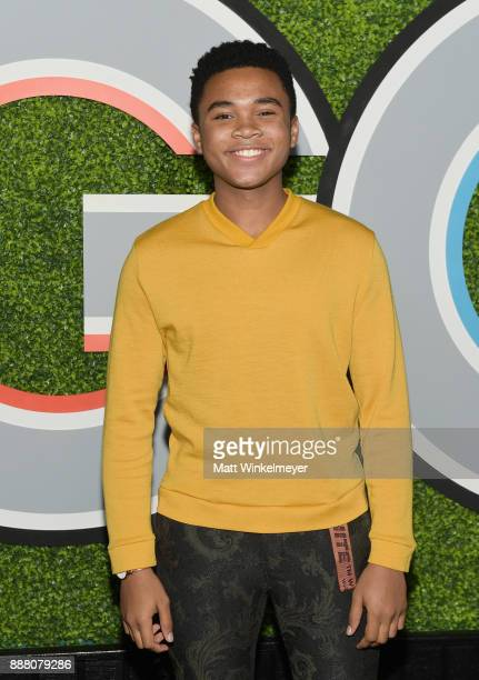 Chosen Jacobs attends the 2017 GQ Men of the Year party at Chateau Marmont on December 7 2017 in Los Angeles California