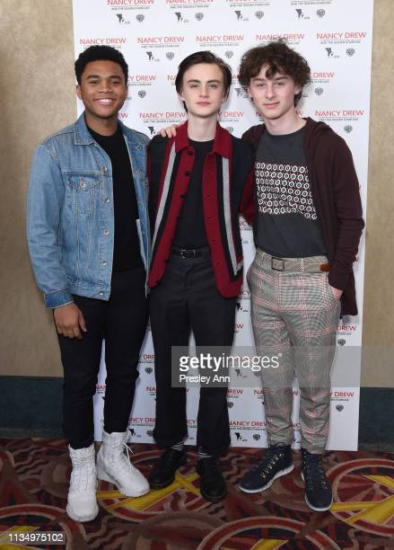 Chosen Jacobs Jaeden Lieberher and Wyatt Olef attend the red carpet premiere of Nancy Drew and the Hidden Staircase at AMC Century City 15 on March...