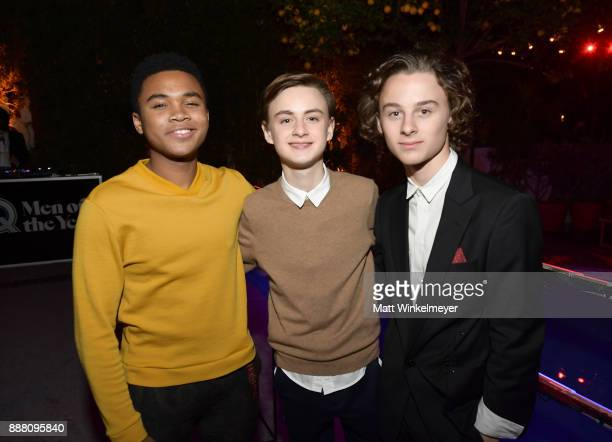Chosen Jacobs Jaeden Lieberher and Wyatt Oleff attend the 2017 GQ Men of the Year party at Chateau Marmont on December 7 2017 in Los Angeles...