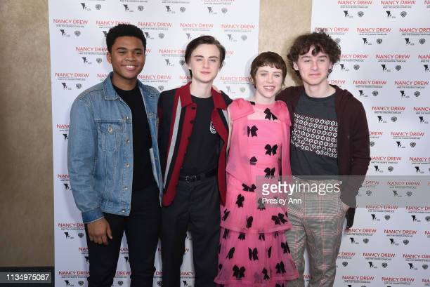 Chosen Jacobs Jaeden Lieberher Sophia Lillis and Wyatt Olef attend the red carpet premiere of Nancy Drew and the Hidden Staircase at AMC Century City...