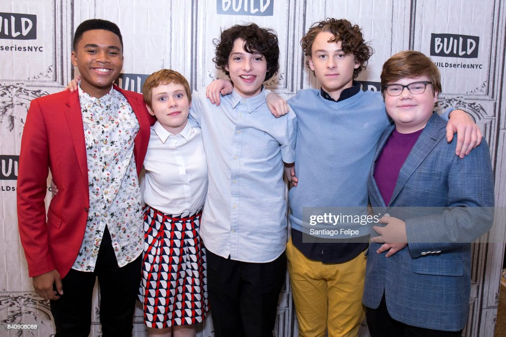 Chosen Jacobs, Sophia Lillis, Finn Wolfhard, Wyatt Oleff and Jeremy Ray Taylor attend Build Presents to discuss the film 'IT' at Build Studio on August 30, 2017 in New York City.