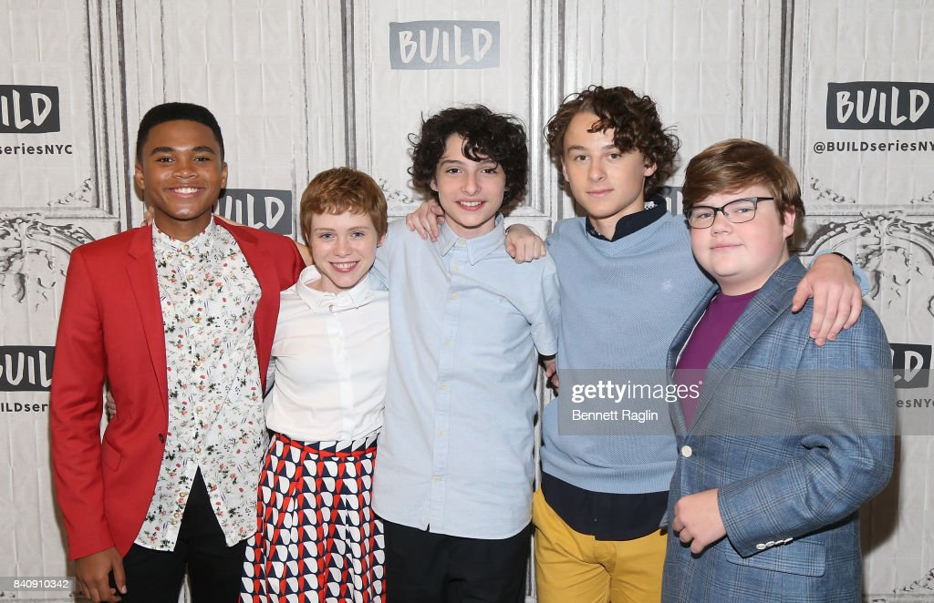 Chosen Jacobs, Sophia Lillis, Finn Wolfhard, Wyatt Oleff, and Jeremy Ray Taylor attend Build to discusss the movie 'IT' at Build Studio on August 30, 2017 in New York City.