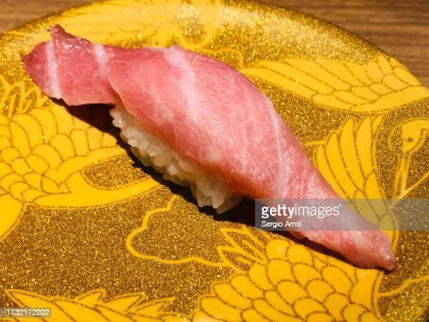 Chotoro fatty tuna belly nigiri