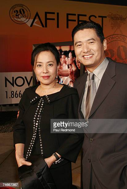 Chow Yun Fat and Jasmine Tan at the Cinerama Dome in Hollywood California