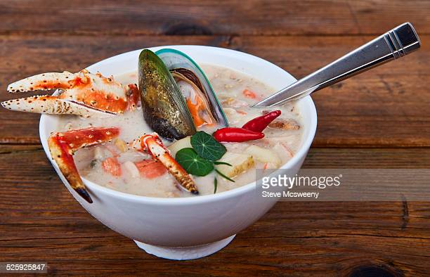 chowder - chilli crab stock photos and pictures
