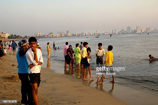 Chowpatty beach on the city coast line is one of the favorite spots to relax after a long working day
