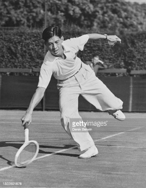 Choy Wai-Chuen from the Republic of China during the Men's Singles Semi Final match against John Olliff at the Autumn Hard Court Tennis Championships...