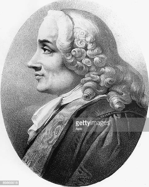 Chretien Guillaume de Lamoignon de Malesherbes magistrate minister of LouisXVI he was also his lawyer during his trial he was guillotined engraving...