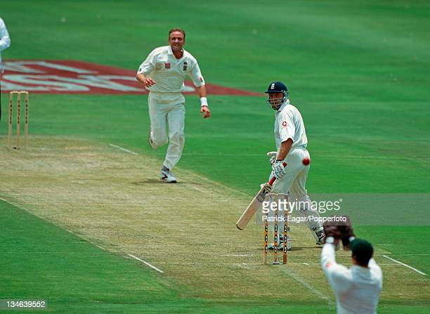Chris Adams is caught behind by Mark Boucher off Allan Donald South Africa v England 1st Test Johannesburg Nov 99