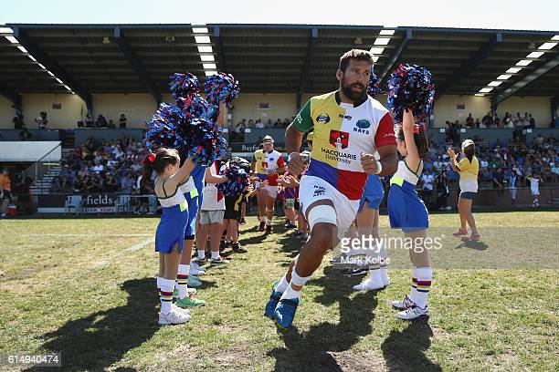 Chris Alcock of the Rays runs out during the NRC Semi Final match between the Sydney Rays and Perth Spirit at Pittwater Park on October 16 2016 in...