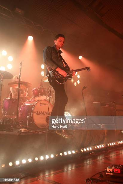 Chris Alderton and Joe Emmett of The Amazons perform at Pyramids Plaza on February 9 2018 in Portsmouth England