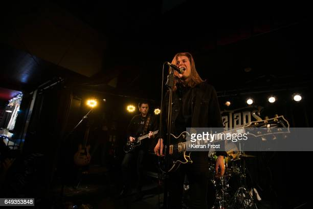 Chris Alderton and Matt Thomson of The Amazons perform at Whelan's on March 7 2017 in Dublin Ireland