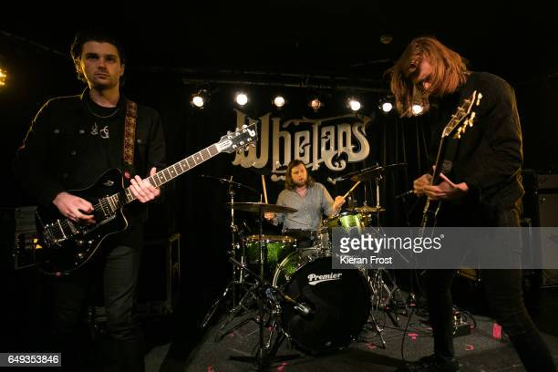 Chris Alderton Joe Emmet and Matt Thomson of The Amazons perform at Whelan's on March 7 2017 in Dublin Ireland