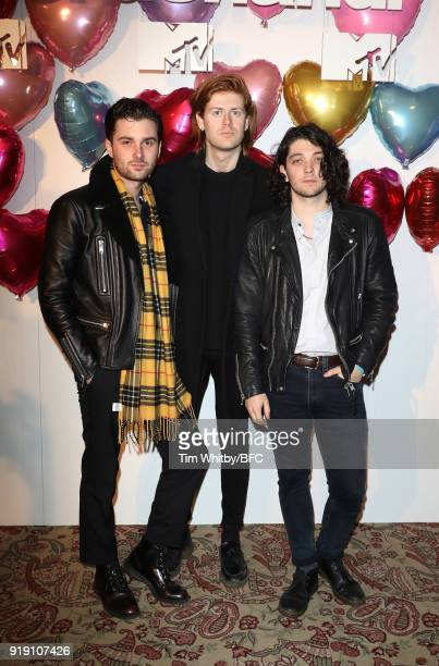Chris Alderton Matthew Thomson and Elliot Briggs of The Amazons attend the Wonderland Magazine x MTV Party during London Fashion Week February 2018...