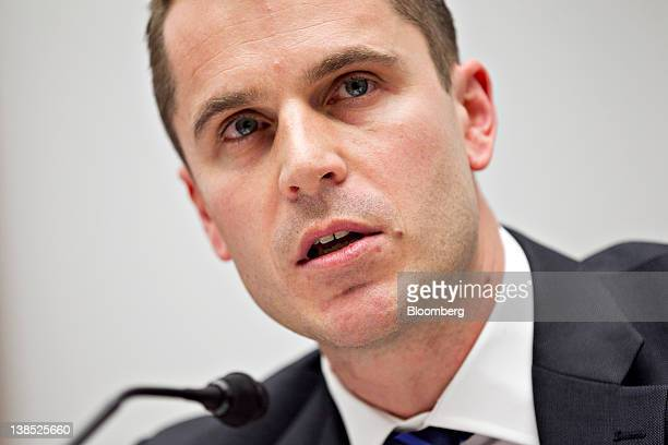 Chris Allen managing director of Barclays Capital Inc speaks during a House Financial Committee hearing in Washington DC US on Wednesday Feb 8 2012...