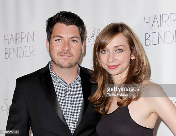 Chris Alvarado and Lauren Lapkus attend the screening of 'Hairpin Bender' at Downtown Independent Theater on September 28 2015 in Los Angeles...