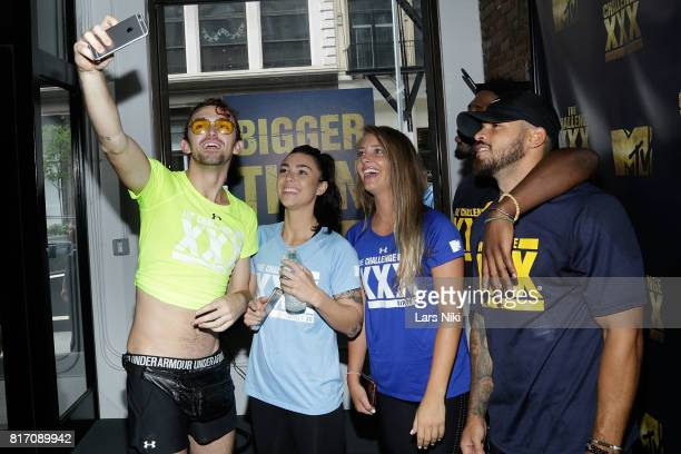 Chris Ammo Hall Kailah Casillas Jenna Compono Derrick Henry and Cory Wharton attend The Challenge XXX Ultimate Fan Experience at Exceed Physical...