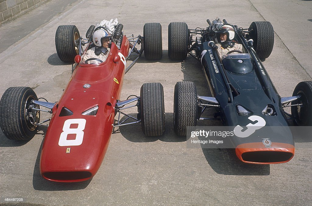 Chris Amon and Jackie Stewart at the British Grand Prix, Silverstone ...