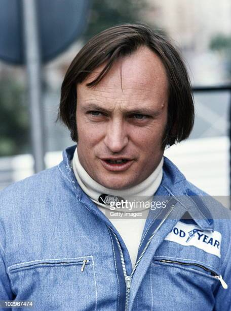 Chris Amon driver of the Ensign Cosworth N176 during practice for the Graham Hill International Trophy on 10 April 1976 at the Silverstone Circuit in...