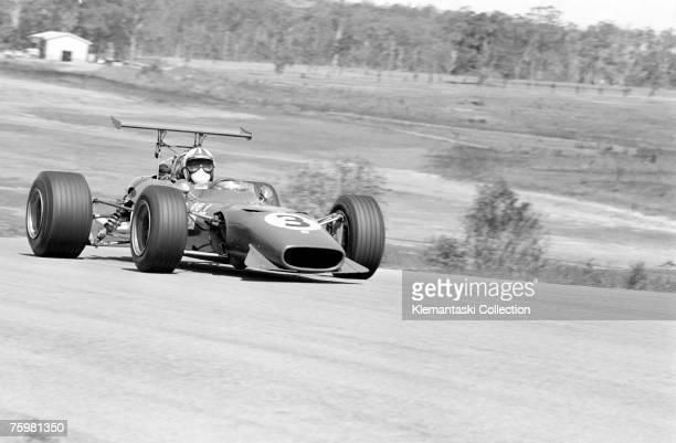 Chris Amon in the Ferrari 166 during the Tasman Cup at the Lakeside circuit near Brisbane 2nd February 1969 Amon won the race which was the last of...