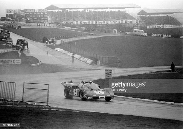 Chris AmonArturo Merzario's Ferrari 512 Spyder at South Bank bend BOAC 1000kms Brands Hatch England 12th April 1970