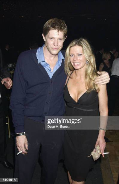 Chris and Charlotte Brosnan attend La Dolce Vita charity dinner and concert part of the Grand Prix Weekend at Stowe House on July 10 2004 in...