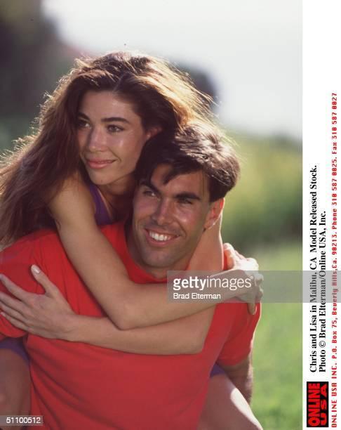 Chris And Lisa In Malibu, Ca Model Released Stock.