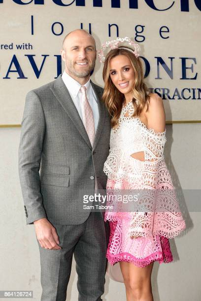 Chris and Bec Judd attends Caulfield Cup Day at Caulfield Racecourse on October 21 2017 in Melbourne Australia