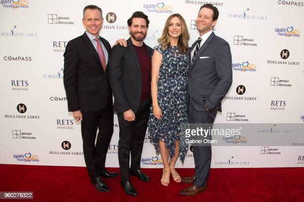 Chris Andrews Edgar Ramirez Erica Hanson and Ike Barinholtz arrive for the Uplift Family Services at Hollygrove's 7th Annual Norma Jean Gala at...