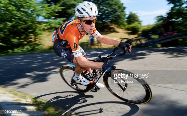 Chris Anker Sorensen of Riwal Ceramicspeed Cycling Team in action during stage two of the Tour of Denmark PostNord Danmark Rundt cycling race from...
