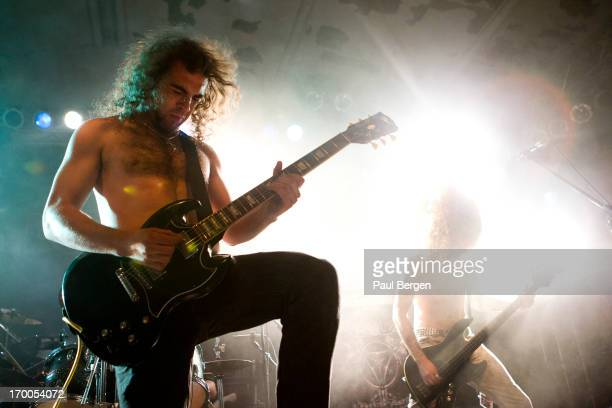 Chris Appleton of British metal band Absolva performs on stage Cologne 08 May 2013